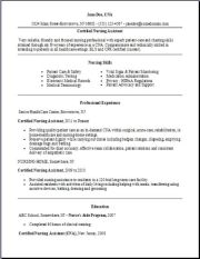 Free Certified Nursing Assistant Resume Template2