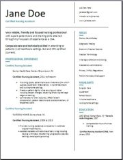 Free Certified Nursing Assistant Resume Template3
