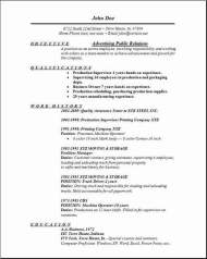 Advertising Public Relations Resume ...  Resume For Public Relations