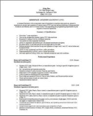 aerospace aviation resume