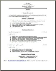 Analyst Resume2