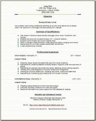 Analyst Resume3