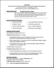 Certified Nursing Assistant Resume1 ...  Certified Nursing Assistant Resume Sample