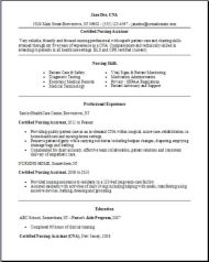 Certified Nursing Assistant Resume2
