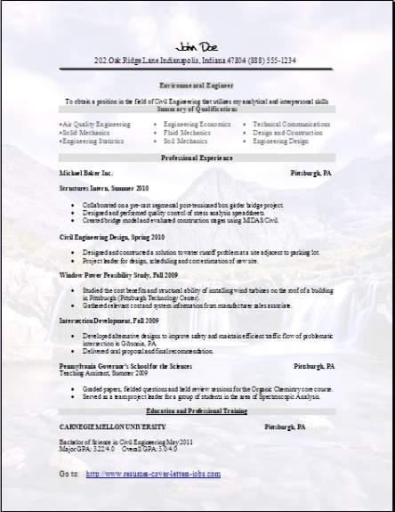 Environmental Resume3