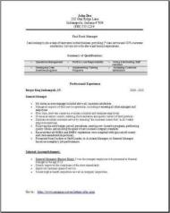 Fast Food Manager Resume, Occupational:examples, samples Free edit ...