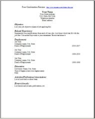 Blank Resume To Fill Out Pdf