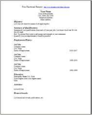 chronological resume free functional resume - Free Blank Resume Templates