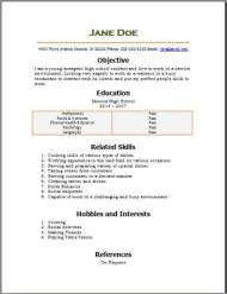Free High School Resume2