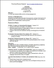 Functional Resume Samples3