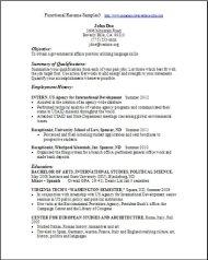 Functional Resume Samples3