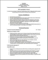 Hr Comp Benefits Resume2