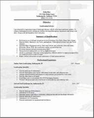 Landscaping Resume3
