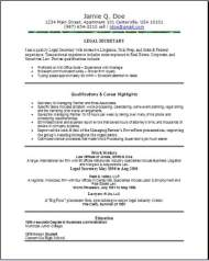Legal Assistant Resume Immigration