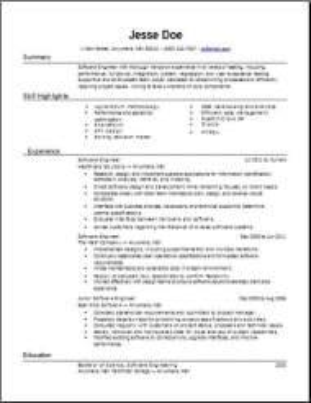Mainframe Resume2