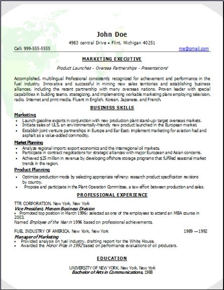 Marketing Resume3