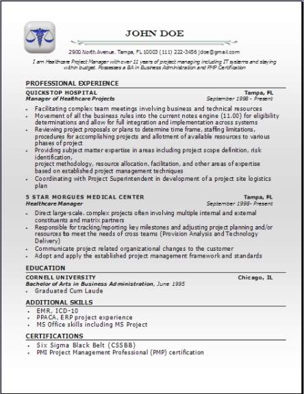 Medical Professional Resume3