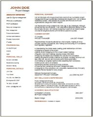 Project Management Resume2