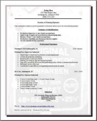 Publishing Printing Resume3