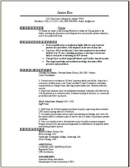 Registered Nurse Resume Sample Occupational Examples Samples Free