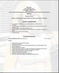 Restaurant Service Resume3