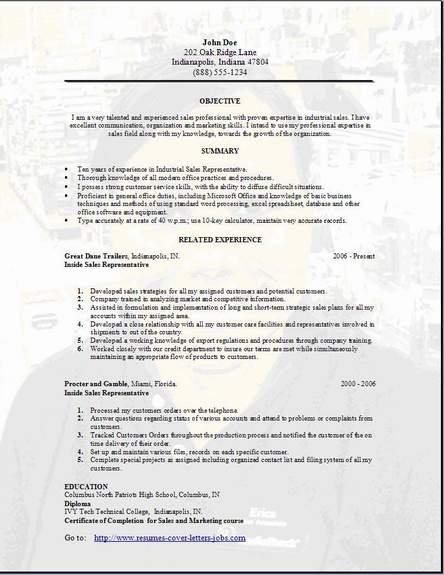 Sales Resume3