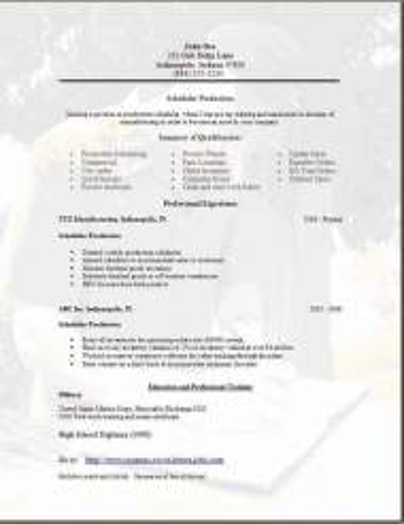 Scheduler Resume3