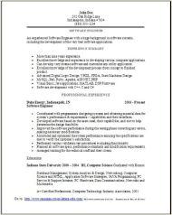Software Engineer Resume Sample2