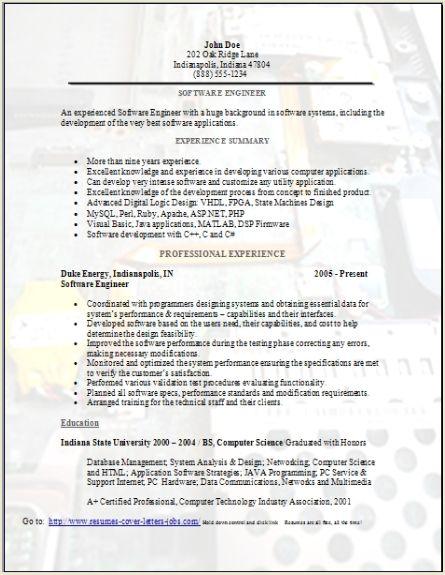 Software Engineer Resume Sample3