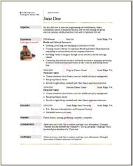 Sports Fitness Resume3