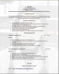 Trainee Resume3
