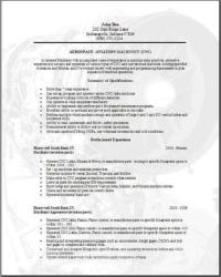 Resume format for aviation industry