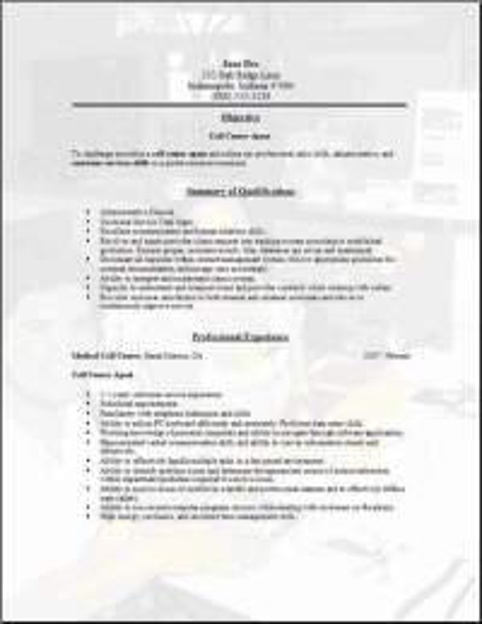 Call Center Resume3