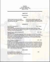 Clerical Resume3