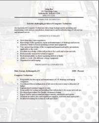 computer technician resume examples samples free edit
