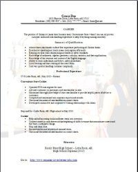 Experience cash handling resume