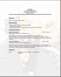daycare assistant resume download daycare assistant template download