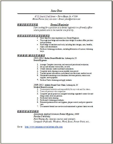 Dental Hygienist Resume 1