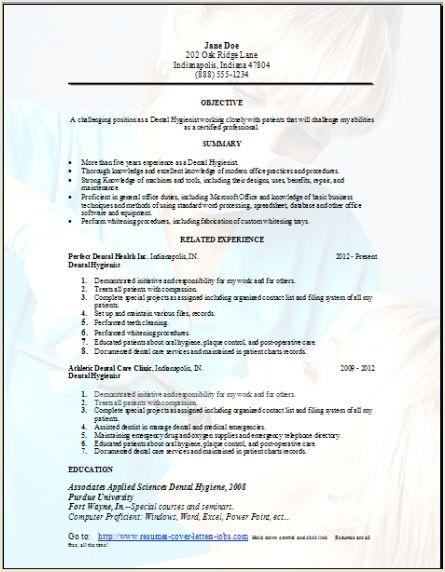9 dental hygiene resume samples event planning template. objective ...