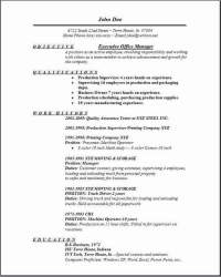 Executive Office Manager Resume