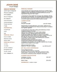 Project Management Resume examples samples Free edit with