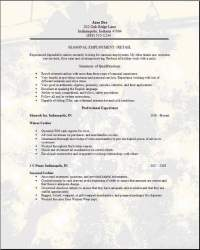 seasonal employment resume examples samples free edit with word