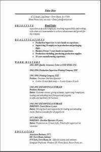 Retail Manager Resume Templates Free