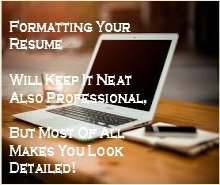 Helping you format your resume