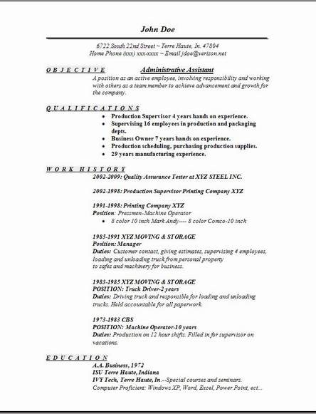 assistant resume sample