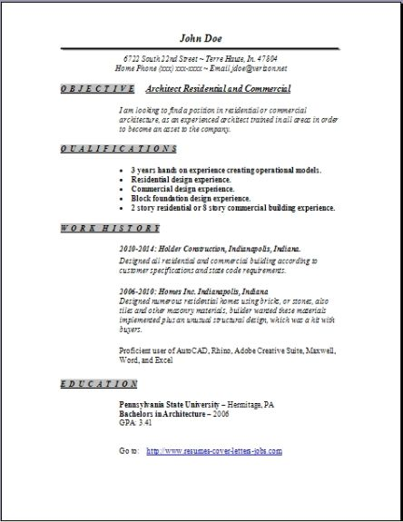 Architecture Resume Architecture Resume2 Architecture Resume3  Architect Cover Letterhow To Write A Successful Cover Letter