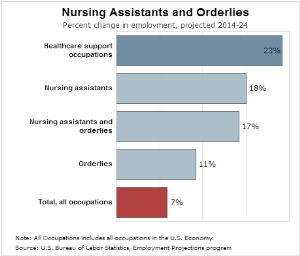 Certified Nursing Assistant Job Outlook 2014 to 2024