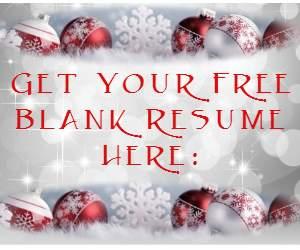 Free Blank Resume