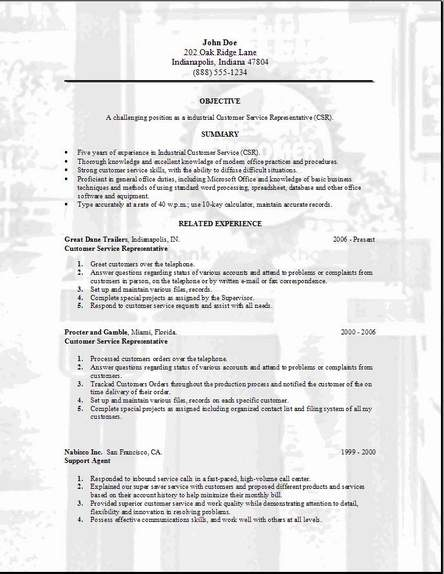 Customer Service Resume Occupationalexamplessamples Free edit – Resume for Customer Service