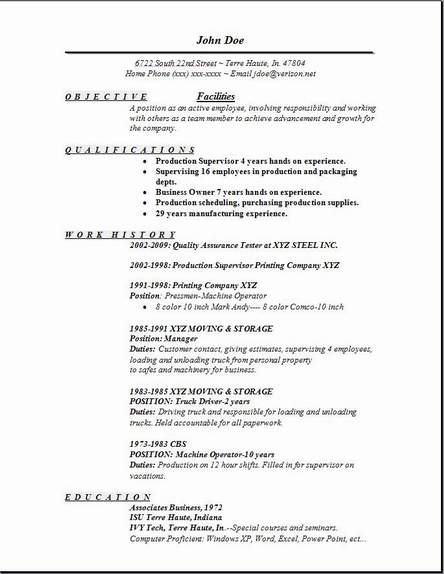facilities resume occupational examples samples free edit with word